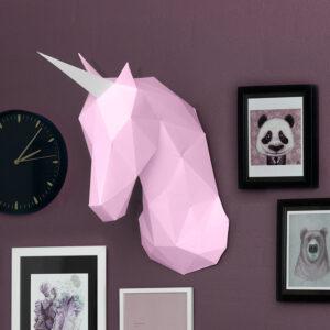 Kreative ideer med papir – 3D enhjørning, blush