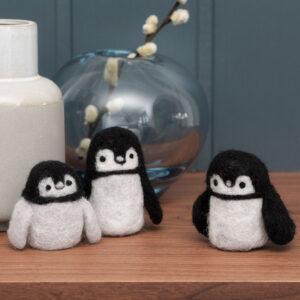 Sjove figurer i nålefilt – pingviner