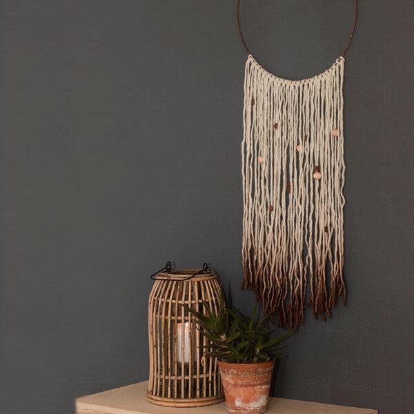 DIY Vægtæppe i Bohemé stil med rustfarver